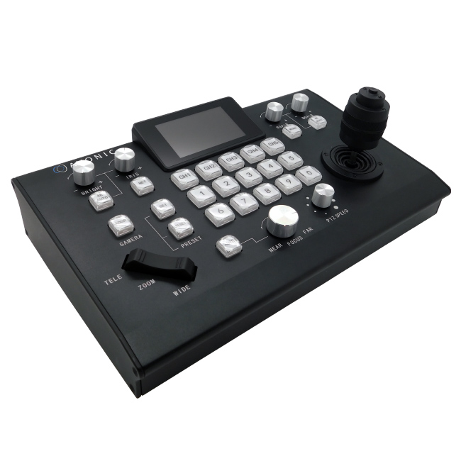 Avonic IP PTZ camera controller with joystick