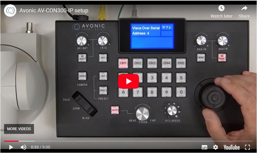 Avonic AV-CON300-IP setup